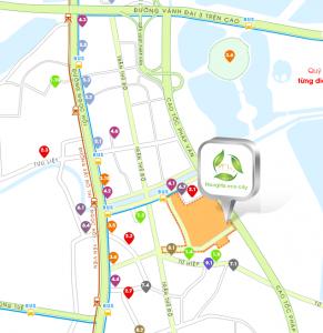 vi trí dự án hồng hà eco city