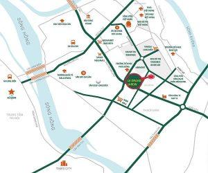 Vị trí chung cư Le Grand Jardin Sài Đồng