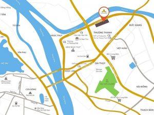 vị trí dự án AQH Riverside Long Biên